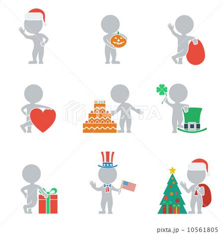 Flat people - holidays 10561805