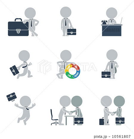 Flat people - business 10561807