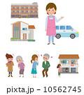 老人ホーム 老人保健施設 介護施設のイラスト 10562745