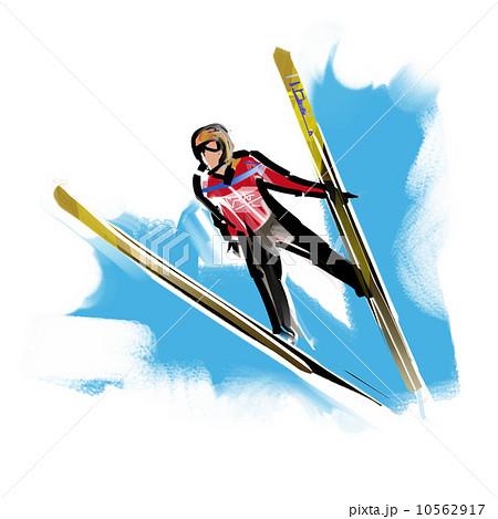 スキージャンプのイラスト素材 [...