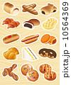 ベクター パン ドーナツのイラスト 10564369
