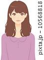 ミディアムヘアの女性 10568818