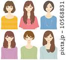 いろいろな髪型の女性 10568831