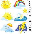 太陽 日 天気のイラスト 10577866