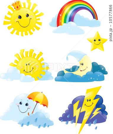 Set of weather symbols. 10577866