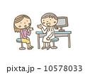診察室 病院 女医 患者 診断  10578033