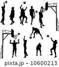 バスケ バスケットボール 人影のイラスト 10600213