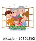 人物 家族 ベクターのイラスト 10601592