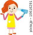 ドライヤー 乾かす 女性のイラスト 10616291