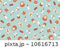 招き猫 ダルマ 羽子板のイラスト 10616713