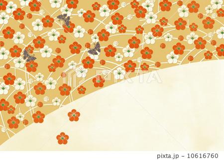 梅に蝶B(文字なし) 10616760