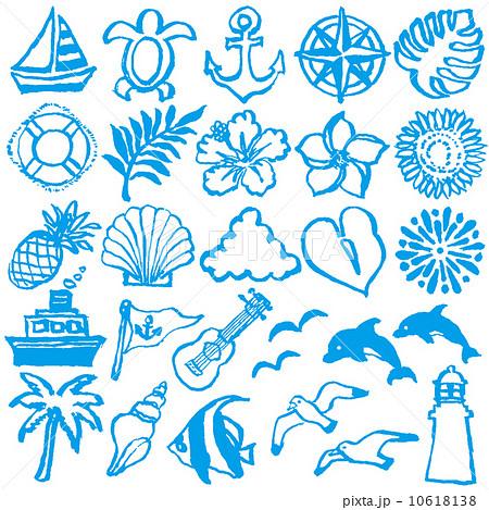 夏休み 絵日記 手描きイラストのイラスト素材 10618138 Pixta