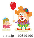 Circus clown with balloon and girl 10619190
