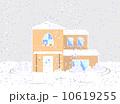雪の積もった家 10619255