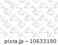 ウサギ 模様 パターンのイラスト 10633190