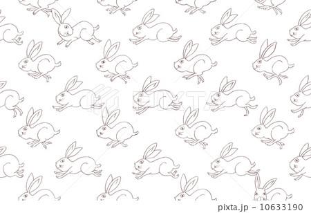 シームレスパターン・脱兎(線画・透過) 10633190