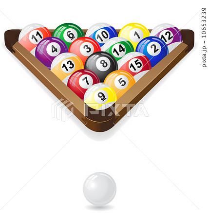 billiards balls vector illustrationのイラスト素材 [10653239] - PIXTA