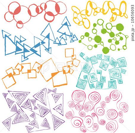 幾何学模様 手描きイラストのイラスト素材 10656093 Pixta