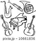 手書き ベクター 楽器のイラスト 10661836