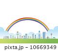 虹 街 都市風景のイラスト 10669349