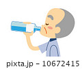 ベクター ミネラルウオーター 飲むのイラスト 10672415