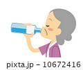 ベクター ミネラルウオーター 飲むのイラスト 10672416