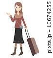 スーツケース 旅行鞄 キャリーバッグのイラスト 10674255