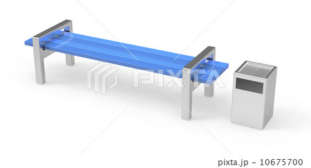 Bench and binのイラスト素材 [10675700] - PIXTA