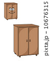 食器棚 戸棚 下駄箱のイラスト 10676315
