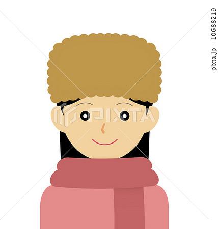 ロシア帽を被る女性のイラスト素材 10688219 Pixta