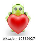 ロボット あいさつ グリーティングのイラスト 10689927