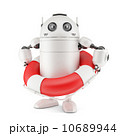 Robot with life buoy. 10689944