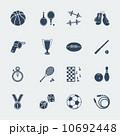 Sport equipments of flat design.Vector 10692448