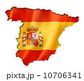 Spanish flag map 10706341