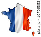 French flag map 10706352