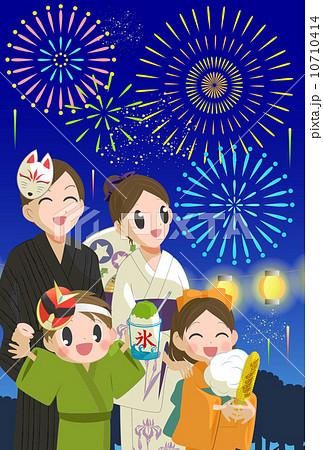 家族と花火大会