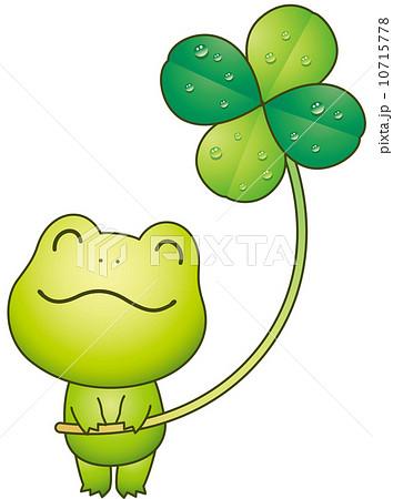 蛙と四葉のクローバー 10715778