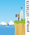 男女 灯台 人物のイラスト 10738378