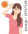 紫外線 太陽 女性のイラスト 10747128