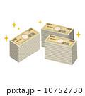 お金 一万円札 紙幣のイラスト 10752730