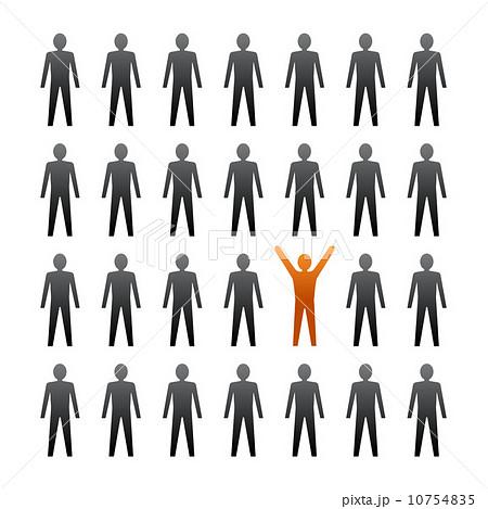 unique person in the crowd のイラスト素材 10754835 pixta