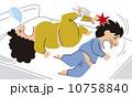 寝相 蹴る ベクターのイラスト 10758840