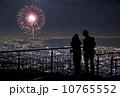花火と星と夜景デート(合成) 10765552