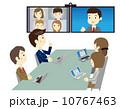 ベクター WEB会議 ビデオ会議のイラスト 10767463