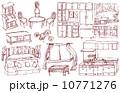 ベクター 家具 インテリアのイラスト 10771276