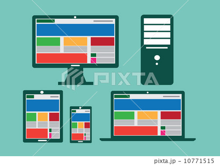 Responsive web design illustrationのイラスト素材 [10771515] - PIXTA