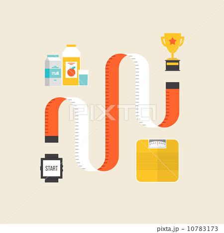 weight loss flat illustration conceptのイラスト素材 10783173 pixta