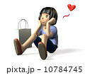 憧れる 人物 少女のイラスト 10784745