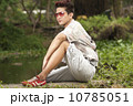 Asian man in printed polo 10785051