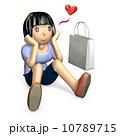 憧れる 人物 少女のイラスト 10789715